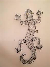 made wire lizard animals lizards wire