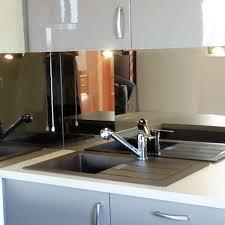 cr ence en miroir pour cuisine credence de cuisine miroir argente