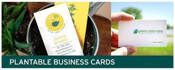 photo cards plantable seed business cards and green promotions catalog