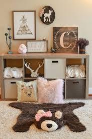 Deer Themed Home Decor Woodland Decor Faux Bear Rug Woodland Nursery By Claraloo