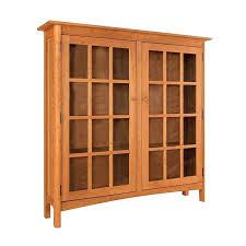 bookcase wooden bookcase glass doors coastal ridge wood and