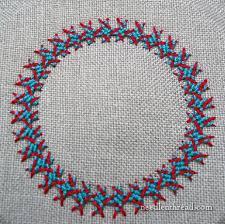 Fish Bone Stitch Embroidery Tutorials Corbet S Needle N Thread Interlaced Herringbone Stitch