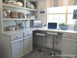 Kitchen Desk Cabinets Create Built In Shelving And Cabinets On A Tight Budget