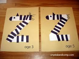 letter of the week z is for zebra preschool craft