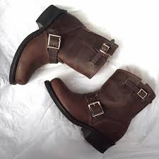womens moto boots size 12 72 frye shoes frye s engineer 8r ankle boots size 6