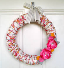 spring wreaths for front door precocious paper front door friday fabric yarn and felt spring