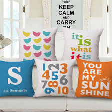 Home Goods Decorative Pillows by Online Get Cheap Numbers Cushion Cover Aliexpress Com Alibaba Group