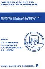 tissue culture propagation of ornamental crops an overview
