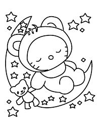 hello kitty to draw kids coloring
