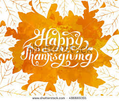 happy thanksgiving background lettered text stock vector