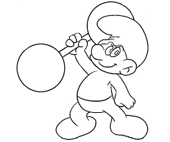 smurf coloring pages 19 hefty smurf coloring page coloring home