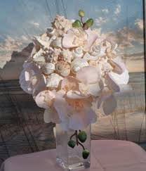 seashell bouquet blushing cascading flower and seashell bouquet ocea