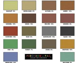 Stain Color Chart Concrete Coating Color Chart Precision Color For Countertops Alabama Pigment Company
