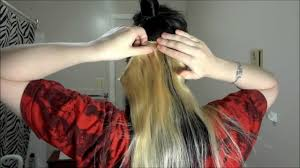 extension in shaved back and side hair how to apply hair extensions to a side cut youtube