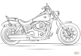harley davidson motorcycle coloring page free printable coloring