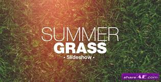 grass slideshow after effects project videohive free after
