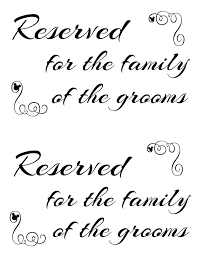 wedding seating signs free printable reserved seating signs for your wedding ceremony