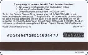 omaha steaks gift card gift card omaha steaks omaha steaks united states of america