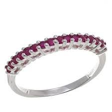 ruby band sevilla silver 0 32ctw ruby band ring 8517825 hsn