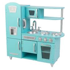 kidkraft cuisine vintage kidkraft vintage play kitchen blue target