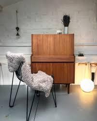 Just Reduced Mid Century Modern Teak Writing Desk Bureau Bureau Vintage
