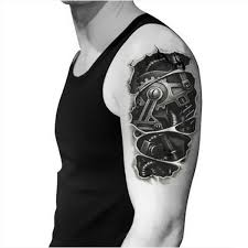 tattoo 3d mechanical 3d mechanical forearm tattoo for men 2 in one package buytra com