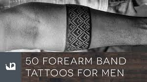 tattoos for guys forearms 50 forearm band tattoos for men youtube