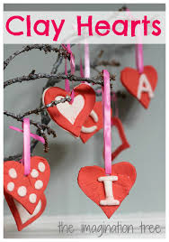 red and white clay heart ornaments the imagination tree