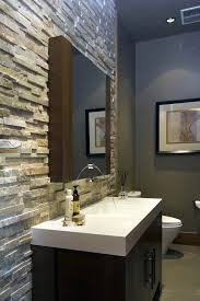 accent wall ideas for small bathroom interesting glass tile
