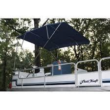 navy blue pontoon deck boat vortex 4 bow bimini top 8 long 91