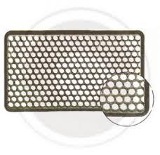tappeti esterno tappeto zerbino a nido d ape con bordo cm 41x71 in gomma nero per