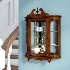 antique curio cabinet with curved glass grand wall mounted curio cabinet reviews wall mounted curio cabinet