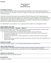 plumber cv example u2013 cover letters and cv examples