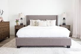 damon ii eastern king upholstered platform bed living spaces