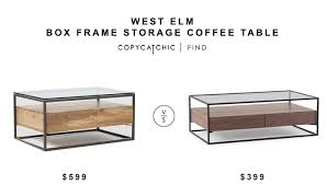 Coffee Table Box West Elm Box Frame Storage Coffee Table Copycatchic
