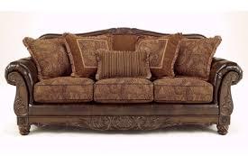 Corinthian Sofa Ashley Fresco Durablend Antique Sofa And Loveseat 6310038 6310035