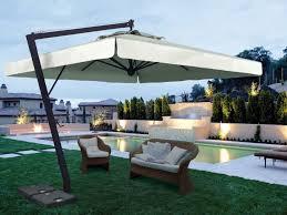 Large Cantilever Patio Umbrella Patio 52 Black Cantilever Umbrella With Cozy Sofa And Rug