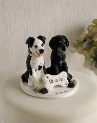 dog cake topper dog wedding cake topper custom dog cake topper two dog cake