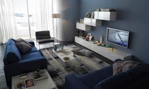 wohnzimmer modern blau einrichten mit grau blau und weiß frisch und modern wohnzimmer
