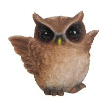 playful flapping brown owl ornament by arts ornaments