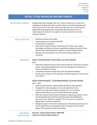 Manager Resume Objective Examples by Resume Example Retail Store Manager Resume Examples Retail Store
