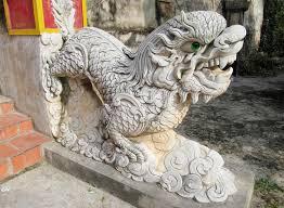 qilin statue qilin asian mythological marble statue stock image image of