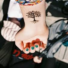 collection of 25 small color ink tree on wrist