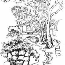 coloring pages for landscapes coloring pages for adults landscapes archives birthofgaia millions