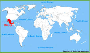 mexico map mexico city in world map all world maps