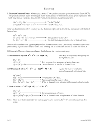 18 best images of factoring using gcf worksheet pdf greatest