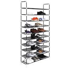 30 pair shoe cabinet 10 tiers free standing shoe rack 30 pair space saving shoe shelf