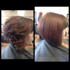 same haircut straight and curly stacked angle bob haircut and color core salon randolph nj