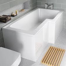 saninova shower bath mobroi com shower baths uk quick view tres left hand shower bath genesis
