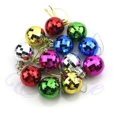 12pcs diy tree balls baubles ornament decoration